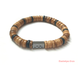 I*H Bracelet| Coconut Beads Natural  'Bali'