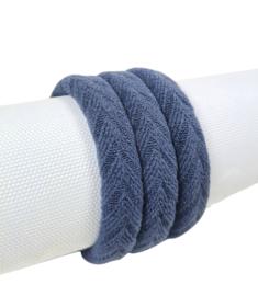 Haarelastiek Knitted | Denim