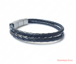 I*H Leather Bracelet Paris| Black