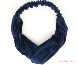 Haarband Velvet Raw Navy