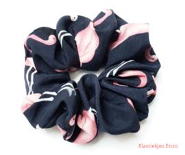 Scrunchie Flamingo Blue
