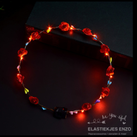 LED Haarband 'Flowers' | Red