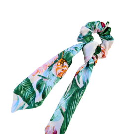 Scrunchie met Lint   Roses