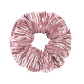 Velvet Scrunchie Raw | Pale Pink