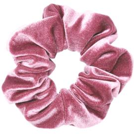 Velvet Scrunchie Pink