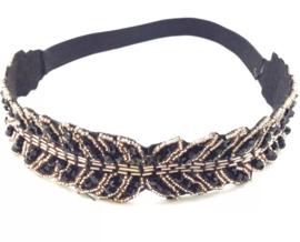 Haarband Boho | Black & Gold