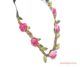 Haarband Flowers| Roze