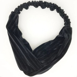 Haarband Velvet Raw Black