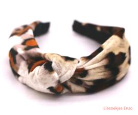 Haarband geknoopt Velvet Cheetah