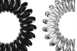 Telefoonsnoer elastiek Black & Clear (XS)