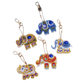 Diamond Painting Sleutelhanger Set| Elephant