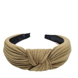 Haarband geknoopt Rib | Brown