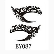 Oog Tattoo sticker zwart