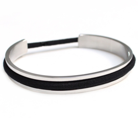Haarelastiek armband Zilver
