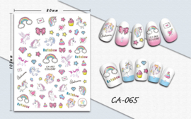 Nagel stickers Unicorn & Rainbows
