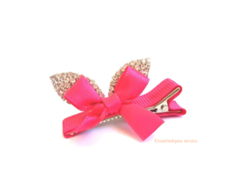 Haarspeldje Bunny Bow Pink