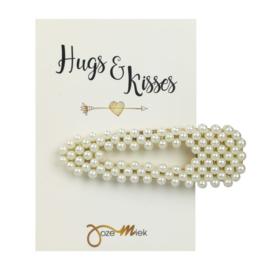Haarclip Triangle Pearls