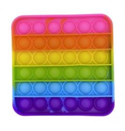PoP It | Vierkant Regenboog