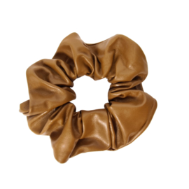 Scrunchie Leather Look | Camel