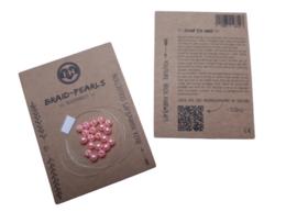 Braid Pearls| Coral Pink