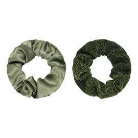 Scrunchie Set of Two |  Olijfgroen