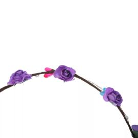 LED Haarband 'Flowers' | Purple