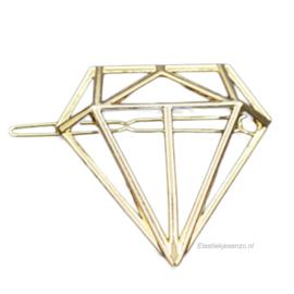 Haarspeld Diamant Goud