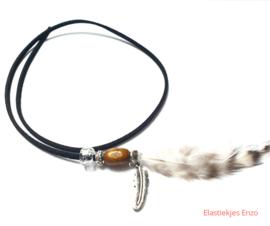 Hairwrap Black Feather