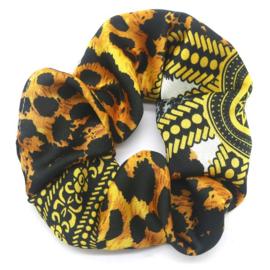 Scrunchie Animal Printed Yellow