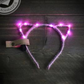 LED Diadeem 'Light Pink Cat'