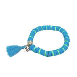 Armbandje Color Kids♡ Aqua Zebra
