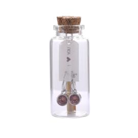 Oorbel Message in a bottle I<3 You Rosé