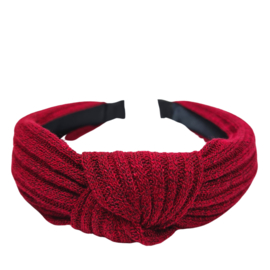 Haarband Knitted Rib | Red