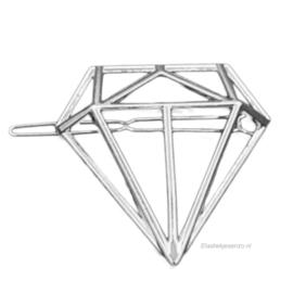 Haarspeld Diamant Zilver