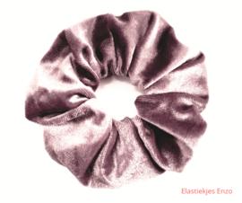 Velvet Scrunchie Pale Brown