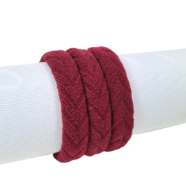 Haarelastiek Knitted | Wine Red