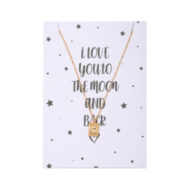 Ketting| To The Moon And Back Goud