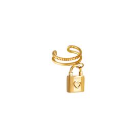 Ear Cuff Lock| Goud