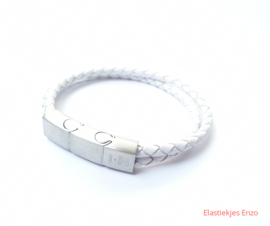I*H Leather Bracelet Paris| White