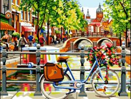 Schilderen op nummer| Amsterdamse gracht