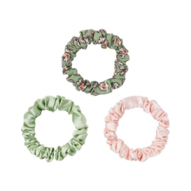 Scrunchie Pastel Flowers | Green