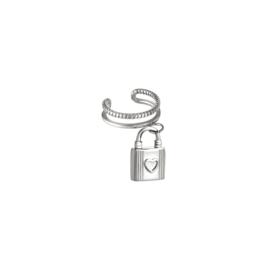 Ear Cuff Lock| Zilver