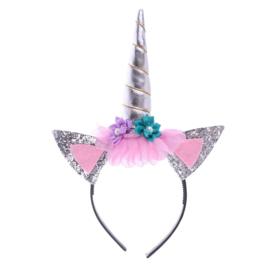 Haarband Unicorn Zilver Sparkle