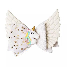 Haarstik Unicorn Wings White