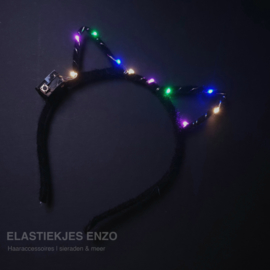 LED Diadeem 'Black Cat'