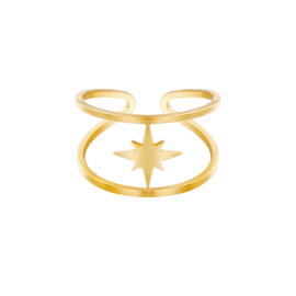 Ring Open Star | Goud