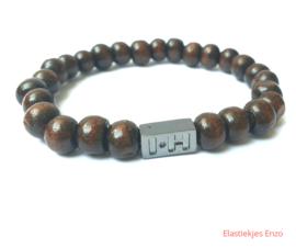 I*H Bracelet| Natrual Wood 'Borneo'