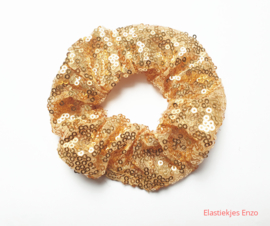 Scrunchie Pailletten Goud