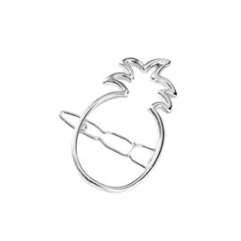 Haarspeld Pineapple zilver