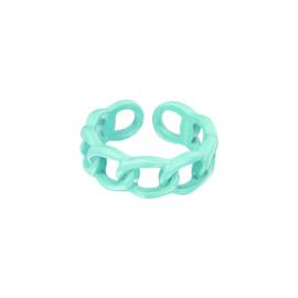 Candy Ring Schakel| Turquiose